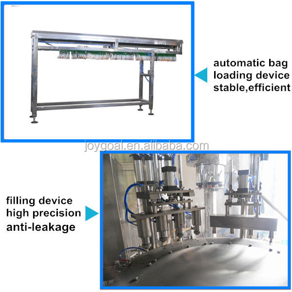 Automatic Spout Pouch Filling and Capping Machine