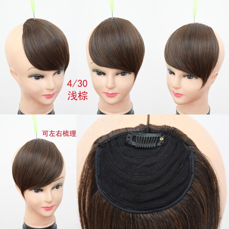Wholesale Short Side Bangs Hair Women Clip In Straight Side Long