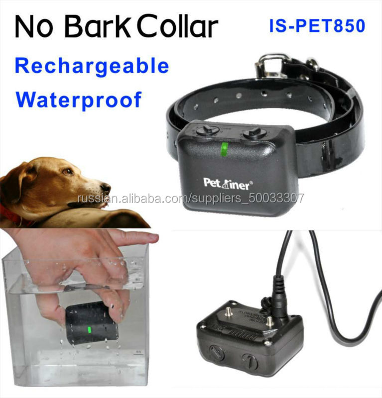Waterproof and rechargeable for 10lb-120lb Vibra& Static Anti Bark Dog Collar