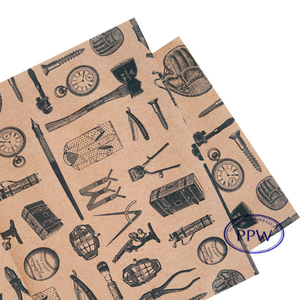 Tool Wrapping Paper Old Classic Paper Manly Tool