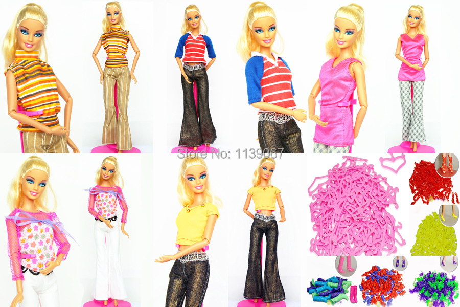 Tons 40 Objects/ Clothes Go well with + Hangers +Footwear / Handmade Doll Costume Outfit Leisure Put on Equipment For 1/6 Barbie Kurhn Doll