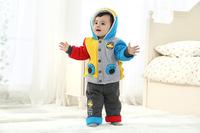 Зимние новые толстые качество хлопка baby младенцев baby теплой двухсекционный марка одежды для мужчин и женщин костюм baby
