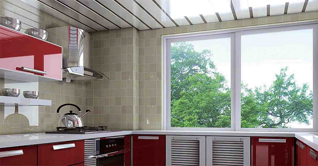 Wall covering panels of heat resistant ceiling material dining room