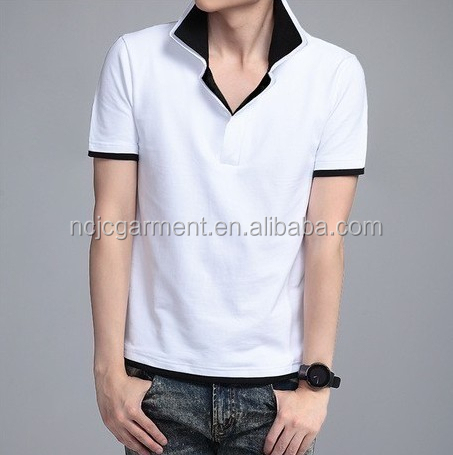 Slim fit double layer neck mens polo shirts wholesale xxxl for Mens dri fit polo shirts wholesale
