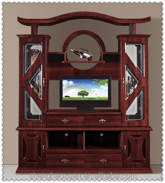 Hot Selling Chinese Antique Tv Cabinet With Showcase 856