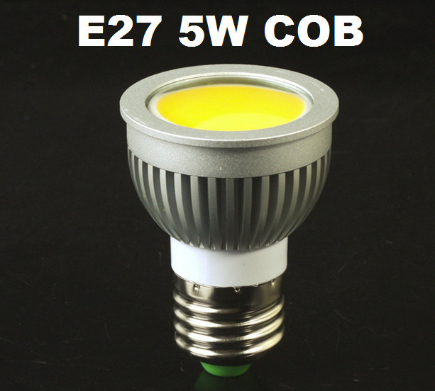 cob 5w/7w/9w e27 5 шт/много привели высокой яркости прожектор лампы лампа свет теплый белый/cool белый