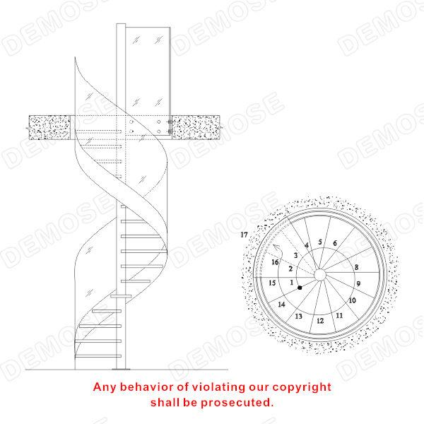 Acier verre escalier en colima on dimensions escaliers id - Dimensiones escalera de caracol ...