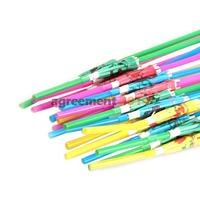 20PCS 3D Umbrella Cocktail Drinking Straws Artistic Suction Tubes Set ARE4