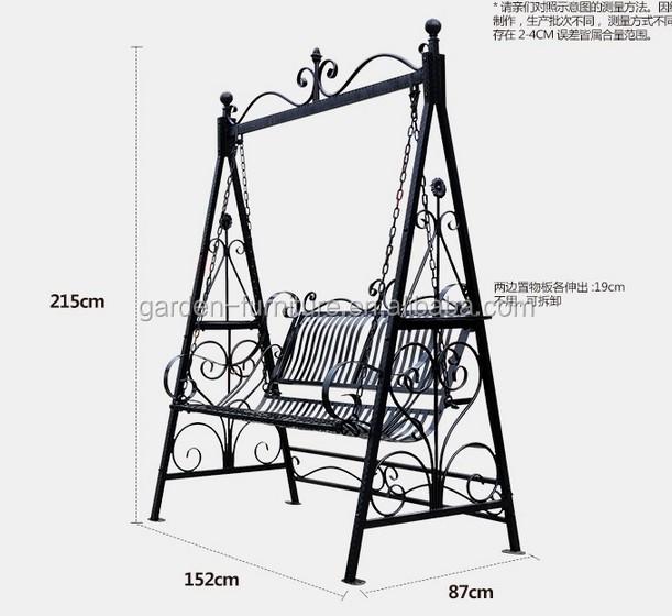 Smeedijzeren luxe comfortabele liefde stoel buiten schommelbank metalen stoelen product id - Thuis opslag bench wereld ...