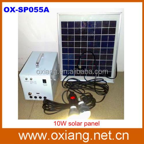 venda quente 20w painel solar solar home lighting system com 2 pcs 3w conduziu a lâmpada
