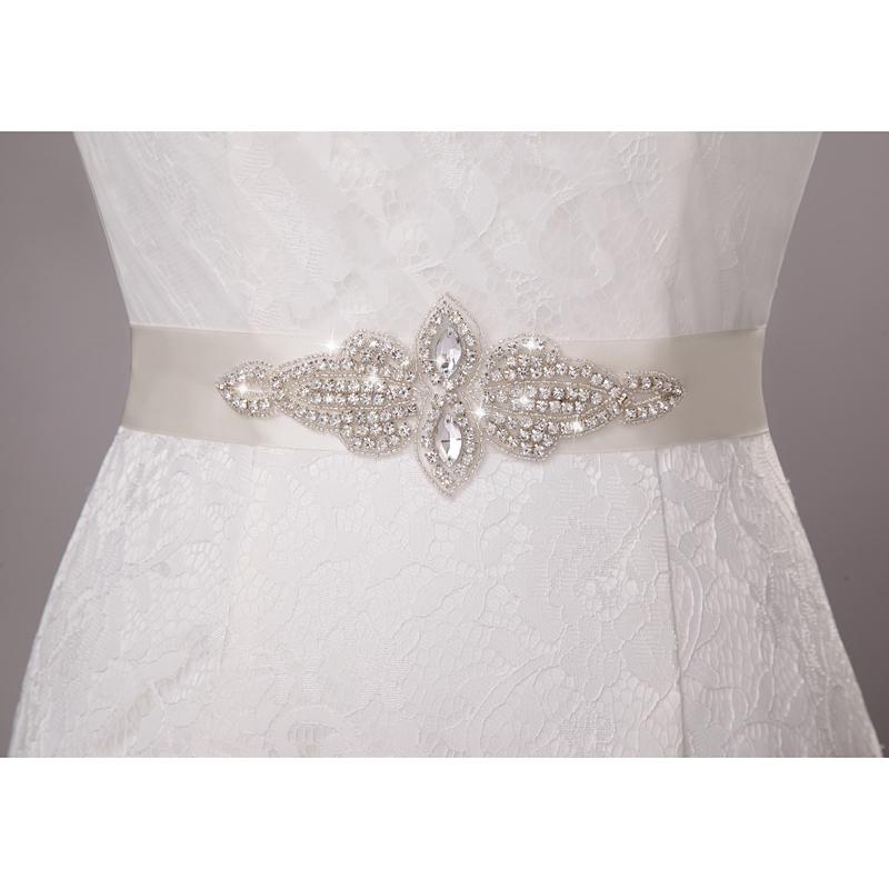 Пояс на свадебное платье с камнями своими руками 22