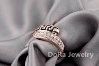 Кольцо ITALINA Rigant 18 K Stellux swarovsKi Crystal #RG96490