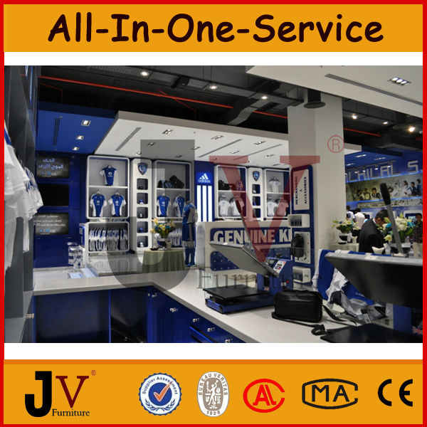 High Quality Store Display Furniture For Retail Sports Shop Interior Design View Interior