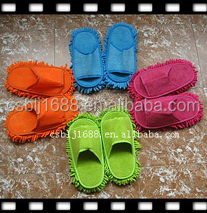 chenille floor cleaning slippers cleaning shoes made in China