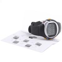 квадратный мужчин женщин часы циферблат калорий счетчик импульса частоты сердечных сокращений монитор Спорт упражнения смотреть черный наручных часов