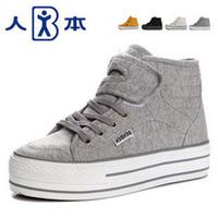 3181 потери Распродажа подлинное лицо увеличилось в толстым дном платформы обувь высокая обувь Холст обувь, специальная обувь