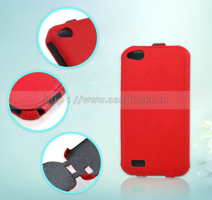 Western Style Hot Red Heat Setting Sublimation Leather Phone Case For Fly IQ4410
