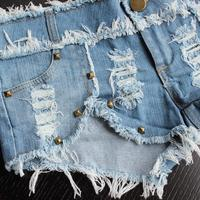 Женские шорты New fashion shorts Korean version of the influx of frayed denim shorts shorts female hip-hop jeans ds lead dancer costumes