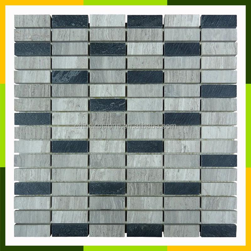 20170325 225233 mozaiek stenen badkamer - Imitatie natuursteen muur tegel ...