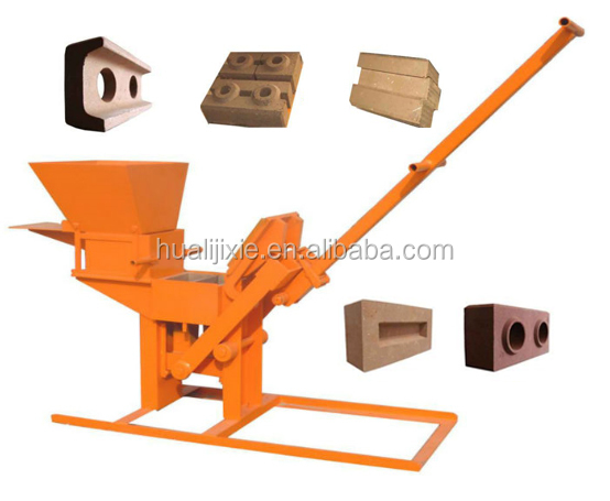 Compressed Earth Block Machine : Qmr portable interlocking compressed earth block