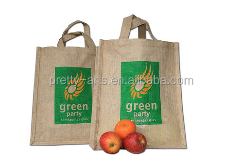 2014 new best selling good quality custom printed jute shopping bag wholesale