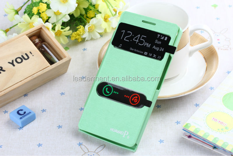 New product for huawei ascend p6 case cover flip leather case