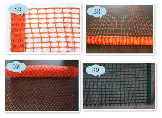 Orange safety barrier fence factory audit view