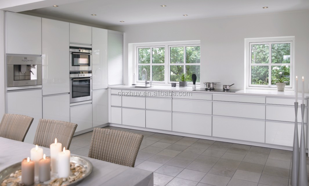 Moderne keuken kasten verkoop, hoogglans wit aangepaste keuken ...