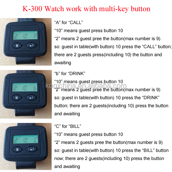 Hospital Call Buzzer System K-200CD+K-300+D3