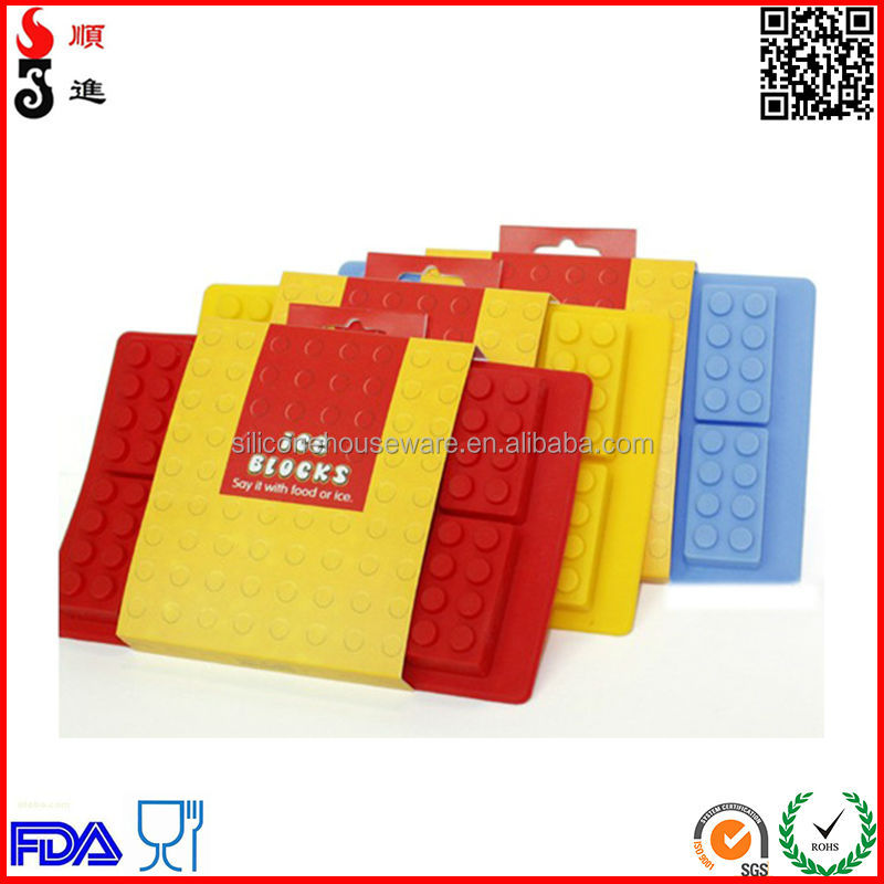 New Building Blocks Silicone Ice Cube Tray Lego Cake Mold - Buy ...