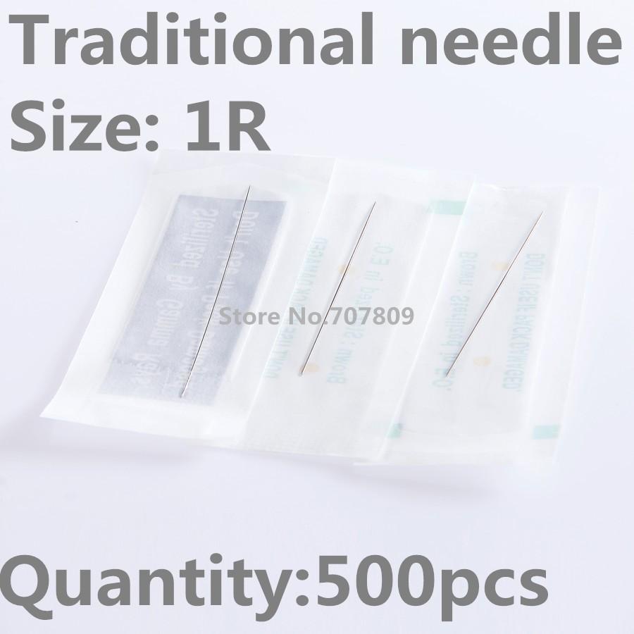 Tattooing Sterilized Makeup Disposable 1rl 500pcs Needles New Fq4q8O