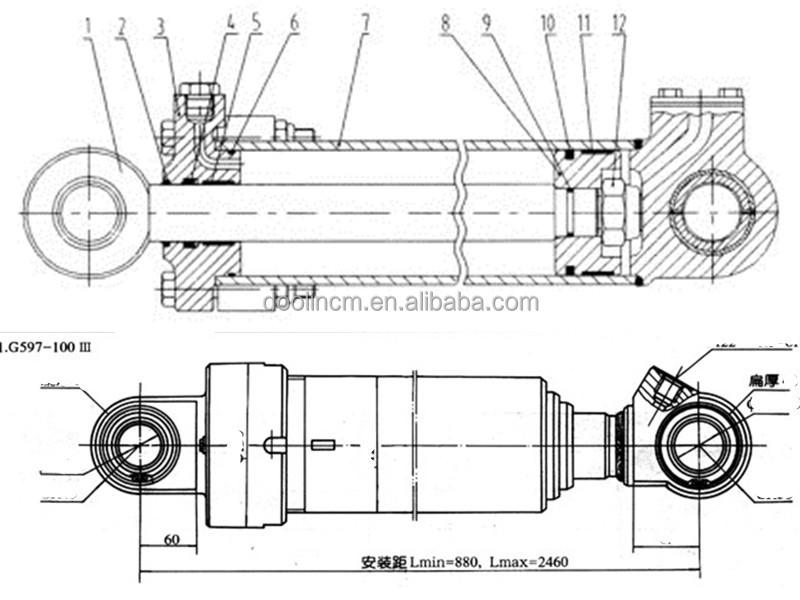 Hydraulische cilinder onderdelen