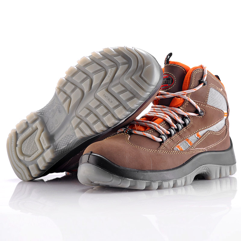 high heel steel toe safety shoes leather safety shoes