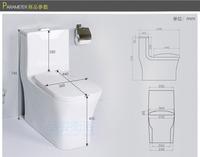 Керамические один кусок Туалет сифон струи смыва ванной портативный туалет свинца белый pp буфера стульчак экономии воды