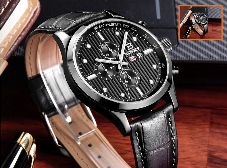 Бингер Многофункциональный Армия специальные водонепроницаемые светящиеся мужские часы ручной кварцевые стали часы мужской открытый секундомер для человека