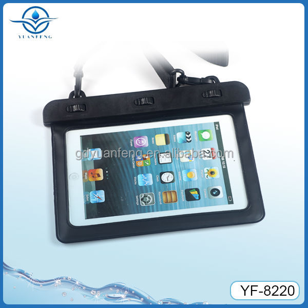 Hot Selling waterproof bag for Ipad mini in swimming diving