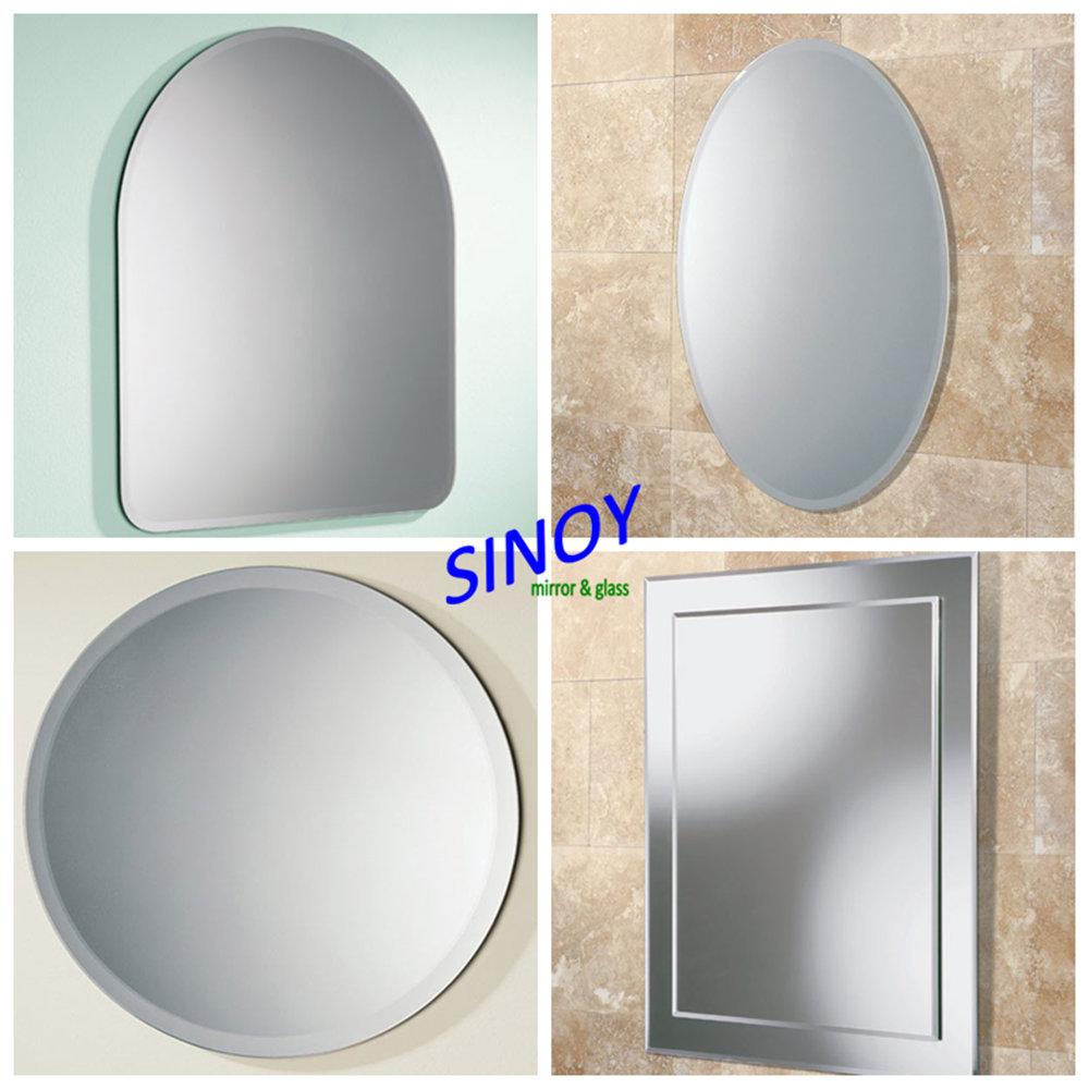 Sinoy decorativas sin marco espejo del ba o con pulido c - Colgar espejo pared sin marco ...