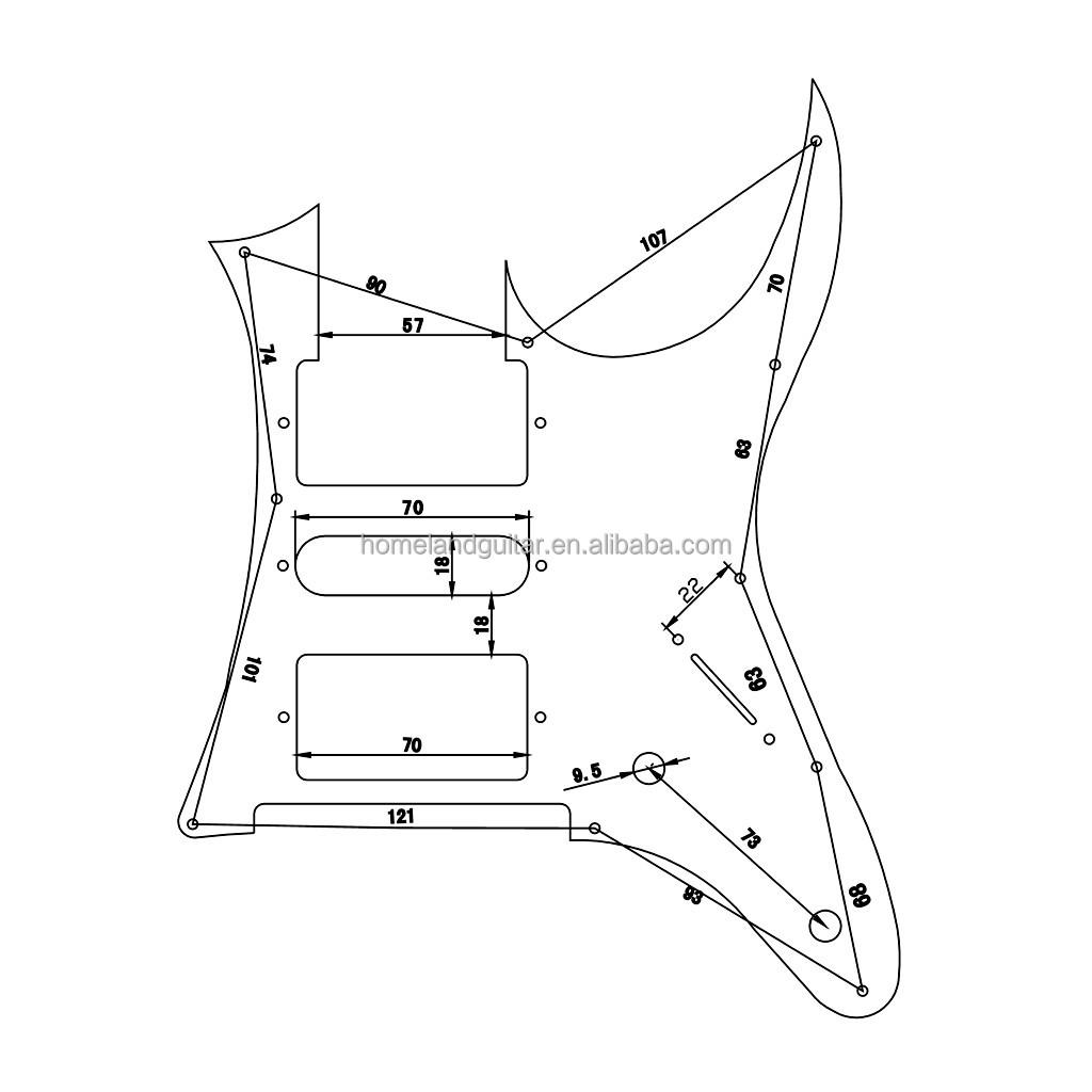 high quality rg pickguard mirror for ibanez rg guitar parts