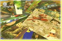 Мини-Тоторо открытка микс 40pcs/лот 80 * 55 мм мультфильм дизайн малых сообщение карта