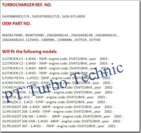 Турбокомпрессор восстановить службы kp35 54359880007 54359880001 54359880009 для citroen peugeot ford mazda 1.4 hdi двигатель tdci: dv4td