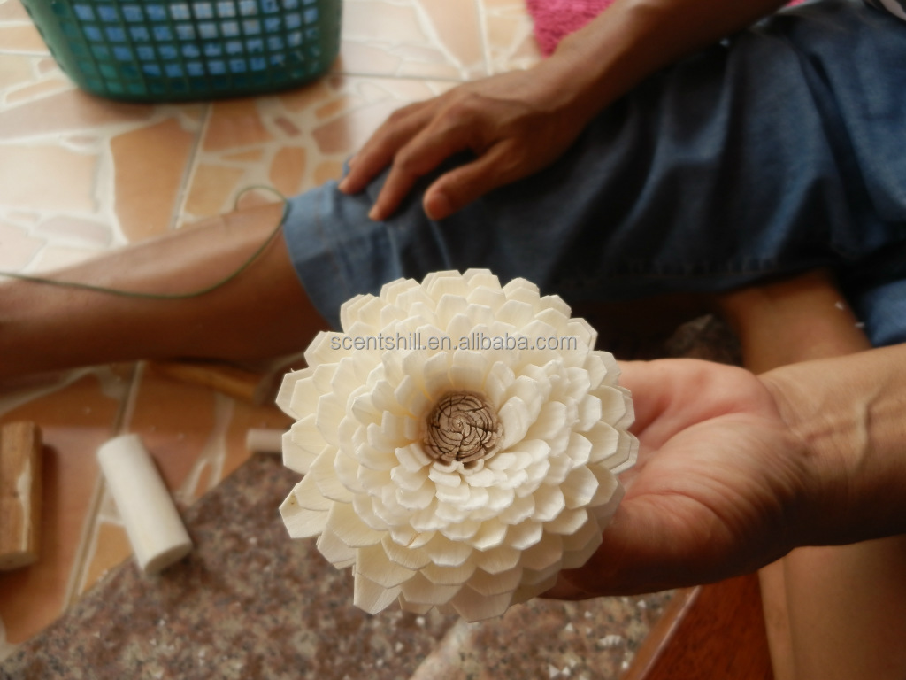 Best sell cheap wholesale handmade artificial peppermint sola flower 7 8 9 izmirmasajfo