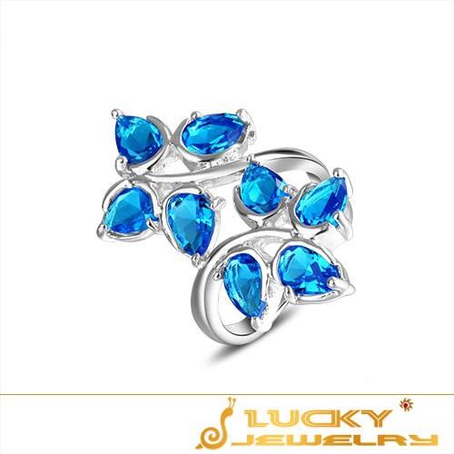 Кольцо Luckyshine 8 7 8 9 925