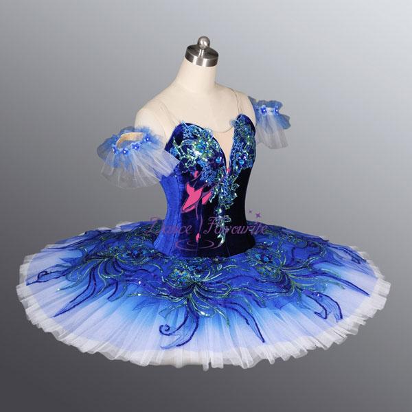 Mejores ventas de elegante azul del tutú trajes de danza del ...
