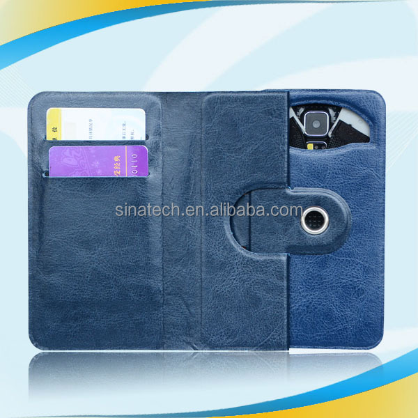 2014 new arrival pu wallet mobile phone case for sumsung s4