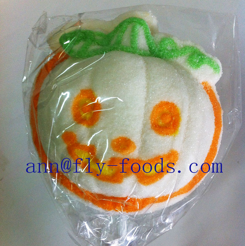 Christmas Pumpkin Shape Halal Marshmallow Lollipop