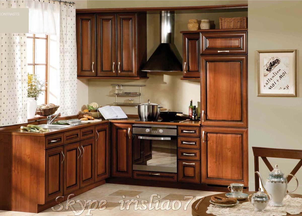de cozinha móveis de madeira maciça Armário de cozinha de madeira  #AB5120 1200x858