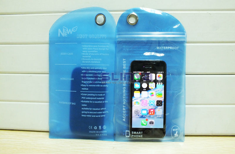 Weight 9 to 10g Anti-rain Waterproof Bag for iPhone 5 4 3 2