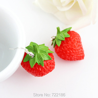 Серьги висячие Fashion Lovely Red Strawberry Individual Drop Earrings For Women