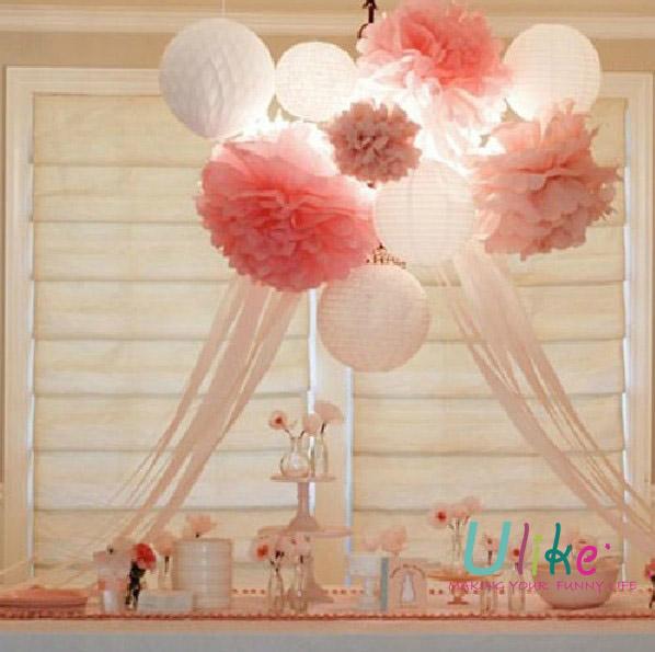 Party DIY Pom Poms Kit Wedding Tissue Paper Pom Poms Flower Balls View Tissue Paper Pom Poms
