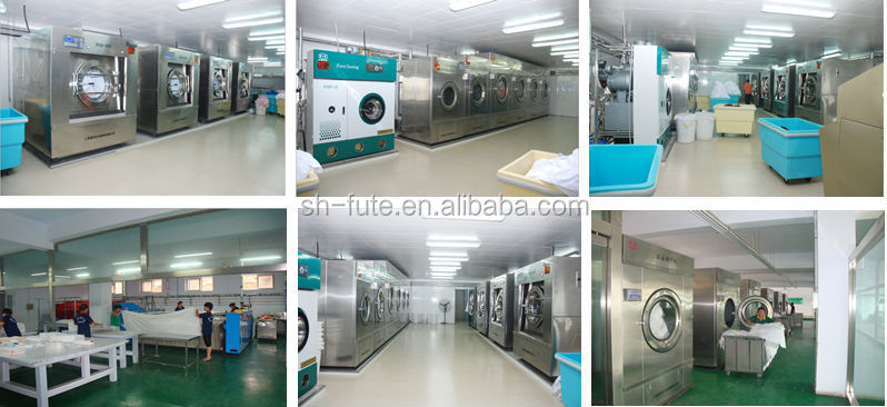 Semi-auto laundry industrial washing machine